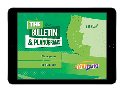 ampm's branded retail presentation on iPad