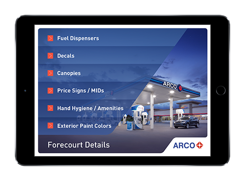 ARCO's branded retail presentation on iPad