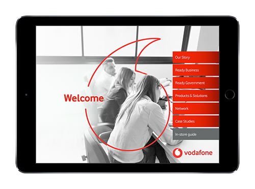 Vodafone NZ's branded sales presentation on iPad